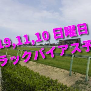 2019,11,10 日曜日 トラックバイアス予想 (東京競馬場、京都競馬場、福島競馬場)