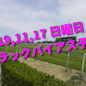 2019,11,17 日曜日 トラックバイアス予想 (東京競馬場、京都競馬場、福島競馬場)