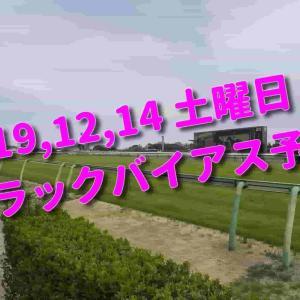 2019,12,14 土曜日 トラックバイアス予想 (中山競馬場、阪神競馬場、中京競馬場)