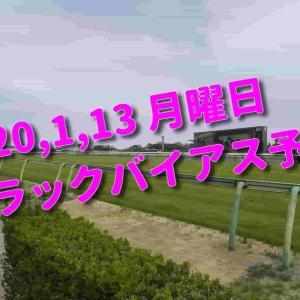 2020,1,13 月曜日 トラックバイアス予想 (中山競馬場、京都競馬場)