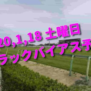 2020,1,18 土曜日 トラックバイアス予想 (中山競馬場、京都競馬場、小倉競馬場)