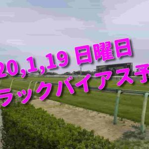 2020,1,19 日曜日 トラックバイアス予想 (中山競馬場、京都競馬場、小倉競馬場)