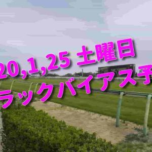 2020,1,25 土曜日 トラックバイアス予想 (中山競馬場、京都競馬場、小倉競馬場)