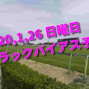 2020,1,26 日曜日 トラックバイアス予想 (中山競馬場、京都競馬場、小倉競馬場)