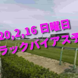 2020,2,16 日曜日 トラックバイアス予想 (東京競馬場、京都競馬場、小倉競馬場)