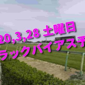 2020,3,28 土曜日 トラックバイアス予想 (中山競馬場、阪神競馬場、中京競馬場)