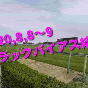 2020,8,8~9 トラックバイアス結果 (新潟競馬場、札幌競馬場)