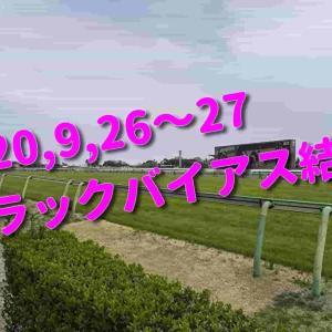 2020,9,26~27 トラックバイアス結果 (中山競馬場、中京競馬場)