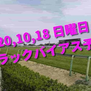 2020,10,18 日曜日 トラックバイアス予想 (東京競馬場、京都競馬場、新潟競馬場)