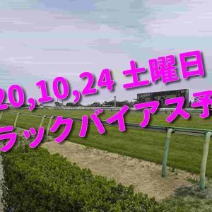 2020,10,24 土曜日 トラックバイアス予想 (東京競馬場、京都競馬場、新潟競馬場)