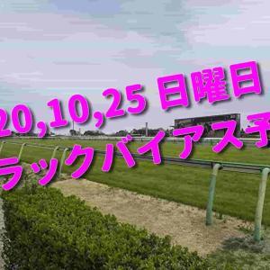 2020,10,25 日曜日 トラックバイアス予想 (東京競馬場、京都競馬場、新潟競馬場)