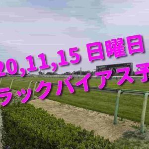 2020,11,15 日曜日 トラックバイアス予想 (東京競馬場、阪神競馬場、福島競馬場)