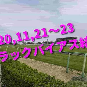 2020,11,21~23 トラックバイアス結果 (東京競馬場、阪神競馬場)
