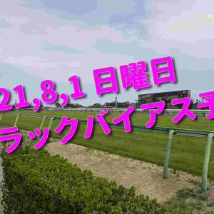 2021,8,1 日曜日 トラックバイアス予想 (新潟競馬場、函館競馬場)