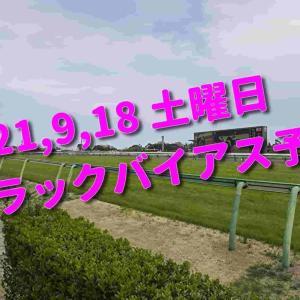 2021,9,18 土曜日 トラックバイアス予想 (中山競馬場、中京競馬場)