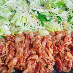 ホットプレートで野菜たっぷり焼肉