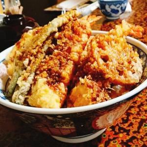 大きな海老の美味しい天丼