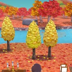 どうぶつの森、ゲームの中も秋色に