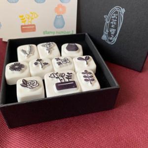 """""""stamp number.3""""さん新作‼︎ 「お花と葉っぱBOX」と「すずらん」と""""TREE""""♪"""
