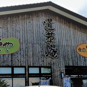 アップルヒルにある玄米そば 道草庵 / オーダーは定番の 山菜そば&天むすび