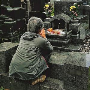今日は母親の命日、妻に促されて墓参り / 墓参りの後は自宅でランチ、妻の作ってくれたチャーハン