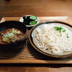 今日のランチは自宅めし / 半田の「オカベの麺」につけ汁はピリ辛の「味噌豚もつ煮込み」