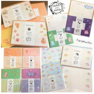 動物刺繍デザイン☆伊予和紙レターセット☆Creemaにて販売開始☆