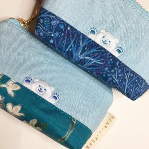 手の平サイズミニミニひょっこり刺繍ポーチ 販売開始☆
