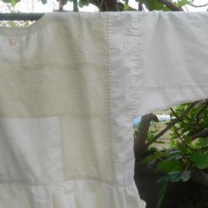 丸に蔦紋の白木綿ワンピース