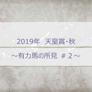 2019年 天皇賞・秋 ~有力馬の所見♯2~