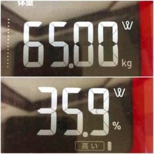 3か月ぶりの体重測定