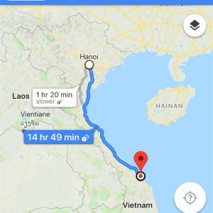 ハノイからホイアン バス行き方