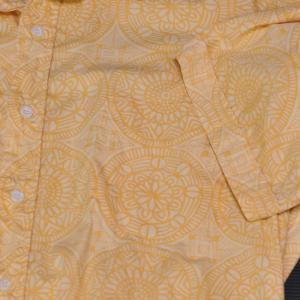 円模様 黄色・Circle Pattern Yellow