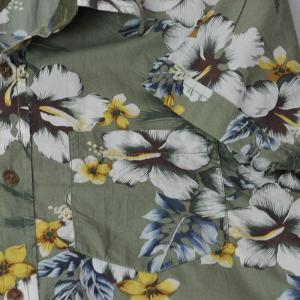 白と黄色のハイビスカスとセージグリーン・White and Yellow Hibisucus,Sage Green