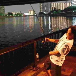 隅田川新神谷橋:ウナギ釣り