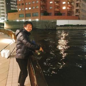 満潮の隅田川両国橋でシーバスを釣った話