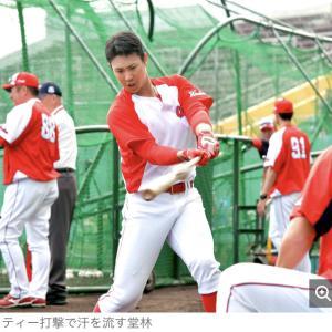 広島・堂林チャンス!一塁レギュラー奪取へ 松山離脱で「巡ってきている」
