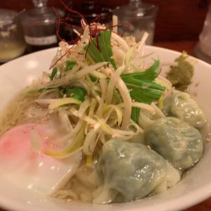 広州市場の冷やし鳥塩わんたん麺が美味しかったよ