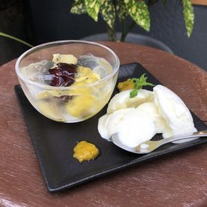 『フルーツジュレとヨーグルトアイスのデザートプレート』暑い季節にピッタリな爽やかデザート♪