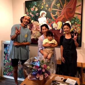 熊田恵子 個展『花いろ香る keiko 展』7/11~7/24 開催の様子