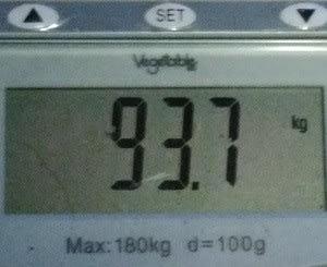やっと95kgを切りました!
