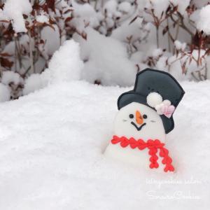 雪だるま×雪