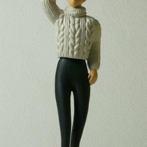 COOL氏の人形  「お出かけのアンジェラ」の彩色途中です。
