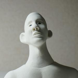 COOL氏の人形  「黒人青年のボビー」の頭像を完成させる事にしました。
