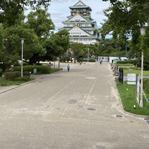 観光客も少なくなった 大阪城公園