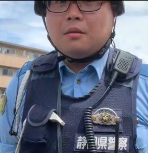 恫喝動画の静岡県警の警察官は誰?所属はどこ?本物の警察官なの?
