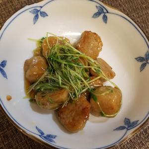 鶏団子と豆苗の南蛮和え/簡単・お弁当にも♪