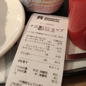 【ミスタードーナツ】店内飲食消費税軽減税率対象?8%でない?