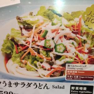 【はなまるうどんメニュー】ランチ人気コクうまサラダうどん