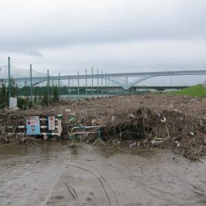 今までここまで荒川の河川敷が水没したことなんて50年くらいはなかったろ